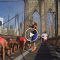 PURSUIT group HIIT workout in NYC on Brrooklyn Bridge